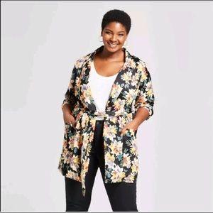 ❤️ Ava & Viv Black  Floral Print Jacket Size 4X ❤️